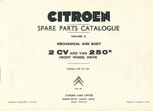 2 CV Spares 1957