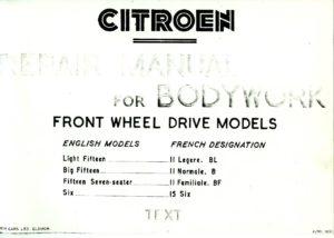 citroen-repair-manual-for-body-work-text-cover