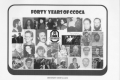 ccoca 40th Birthday place mat
