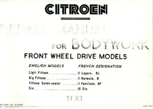 citroen-repair-manual-for-body-work-text-cover